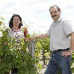 Vignoble de la rodaie Saint Nicolas de Bourgueil Christel et Claudine COUSSEAU dans les vignes