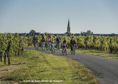 vignoble Saint Nicolas de Bourgueil |Randonnée vélo en famille dans le vignoble