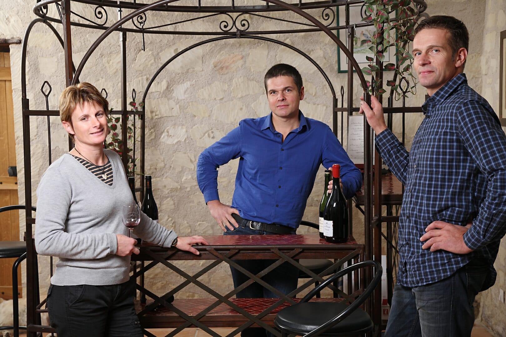 Domaine de la Cabernelle Franck, Claudia et Bertrand dégustation