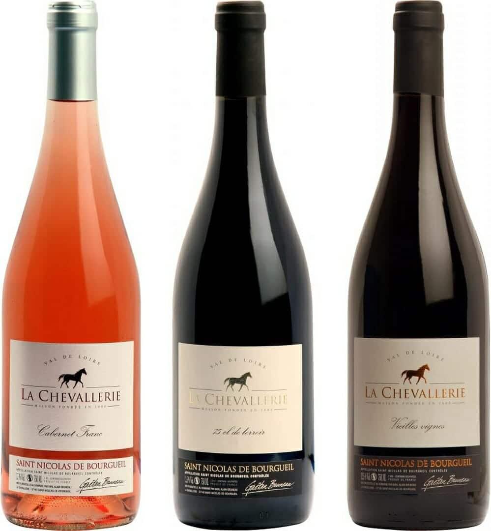 Gamme des vins de la Chevallerie à Saint Nicolas de Bourgueil