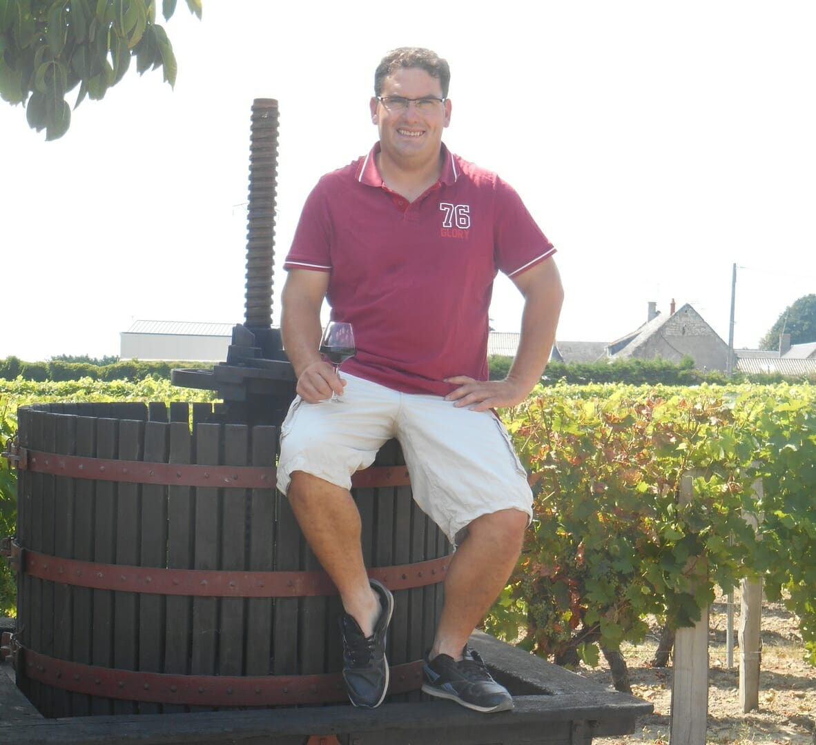 Vignoble du gros caillou patrice DELANOUE pressoir Saint Nicolas de Bourgueil