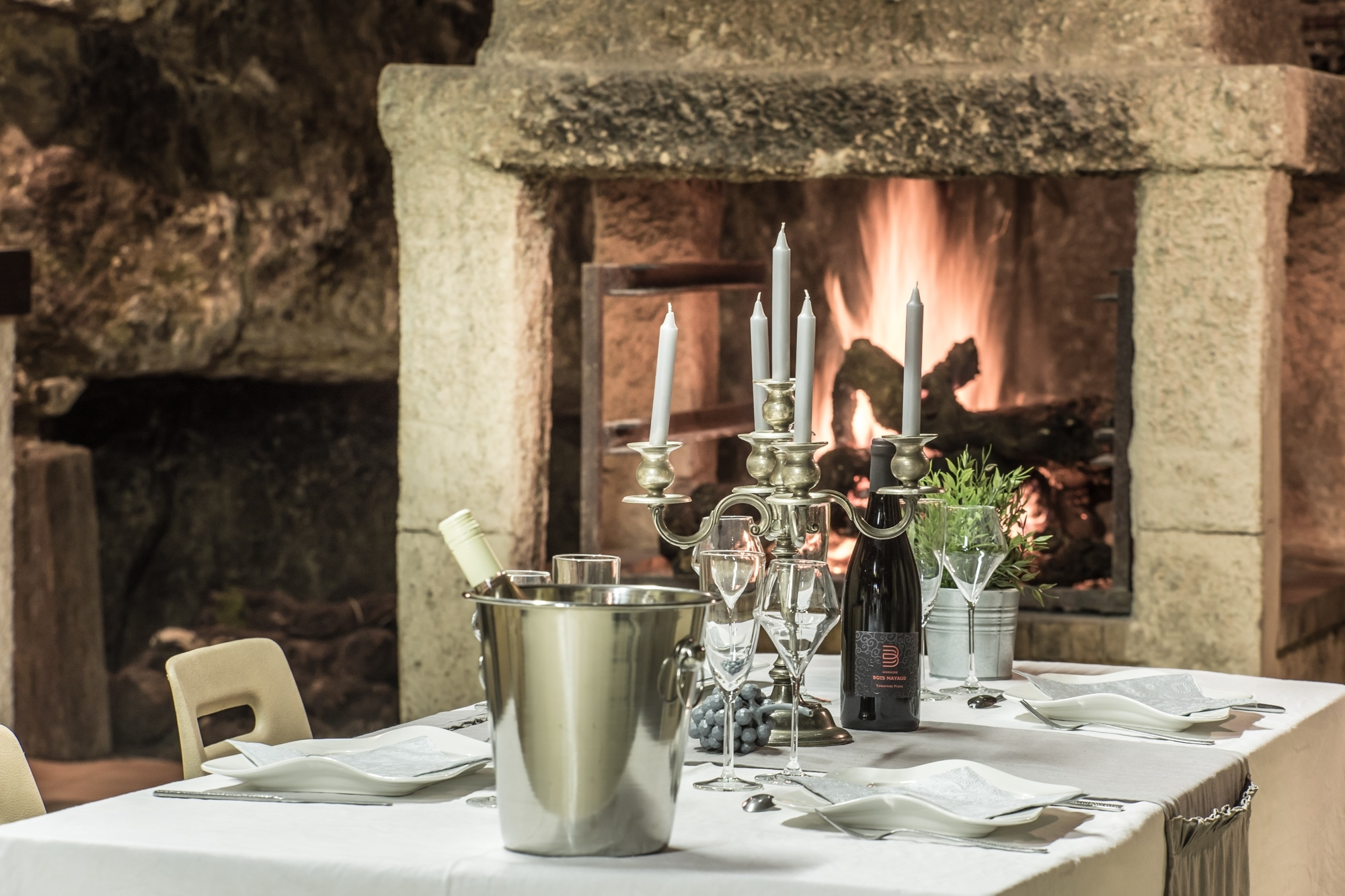 Photo de repas en cave à Saint Nicolas de Bourgueil